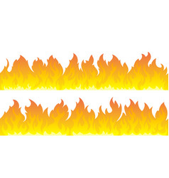 fire flames set fire lines vector image