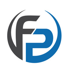 fp letter business logo design vector image
