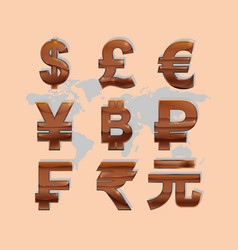 Global money economy vector