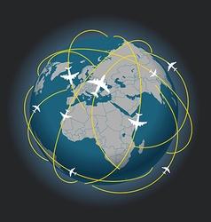 Global travel abstract scheme vector