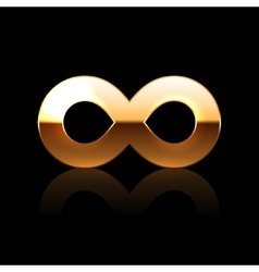 Golden Infinity Symbol vector image