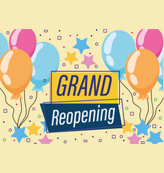 Grand reopening advertising celebration background vector