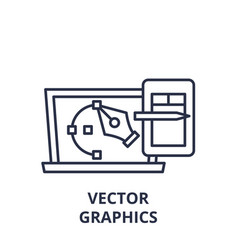 graphics line icon concept graphics vector image