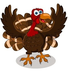 Happy turkey cartoon vector
