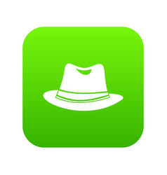hat icon digital green vector image