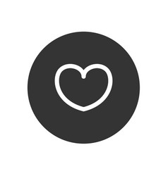 heart icon in modern style for web site and vector image