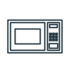 Home appliance microwave isolated flat icon vector image