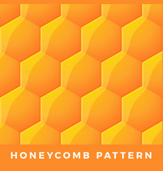 honeycomb seamless pattern natural honey vector image