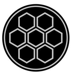 Honeycombs black coin vector