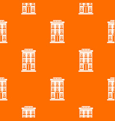 hotel building pattern seamless vector image