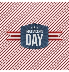 independence day striped background template vector image