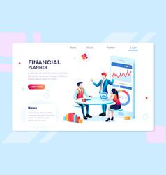 Infographic for business adviser team vector