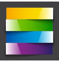 Infographics rainbow shiny paper stripe banners vector image