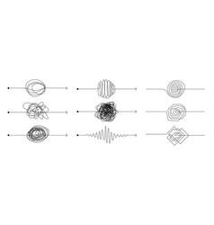 knot arrow line doodle chaos mindset mess vector image