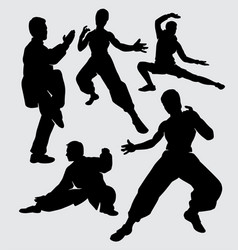 Kung fu sport silhouette vector
