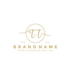 Letter tt feminine logo design vector