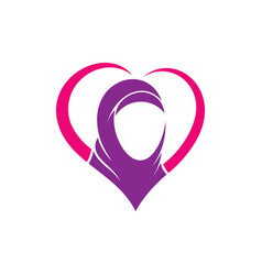 love hijab logo vector image