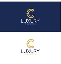 luxury logo c modern style vector image