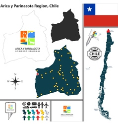 Map of Arica y Parinacota vector