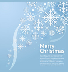 merry christmas art vector image
