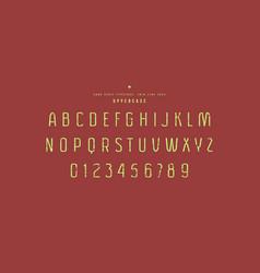 original sans serif font vector image