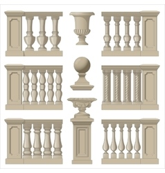 Outdoor and park elements balustrade decorative vector