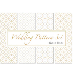 patterns in gold and white colors vector image