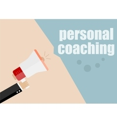 Personal coaching Megaphone Flat design vector