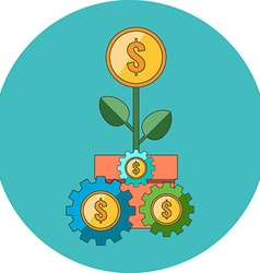 Profit strategy concept Flat design Icon in vector image