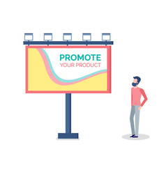 Promote your product billboard and lightman vector