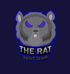 Rat esports logo vector