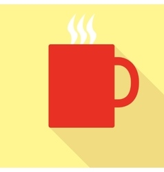 Red Mug With Hot Drink vector image
