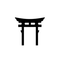 Religion symbol shinto icon element of religion vector