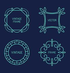 set line logo templates vector image