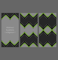 Set of leaflets with an abstract pattern vector