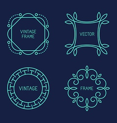 set of line logo templates vector image
