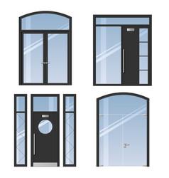 set of modern doors vector image
