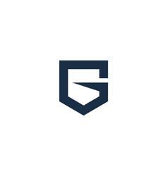shield letter g logo icon design vector image