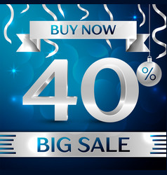 Silver big sale buy now forty percent for discount vector