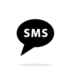 SMS message icon on white background vector