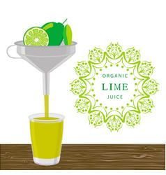 The theme lime vector