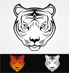 Tiger head tattoo design vector