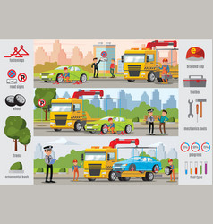 Transport evacuation infographic template vector