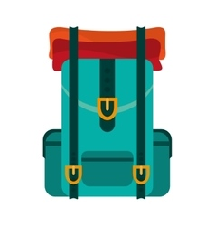 travel backpack icon vector image