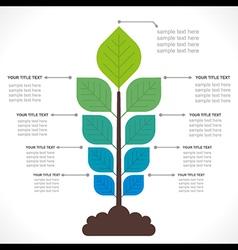 tree creative info-graphics concept vector image