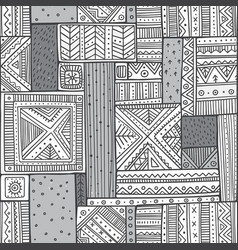 Tribal seamless pattern in boho style with ethnic vector