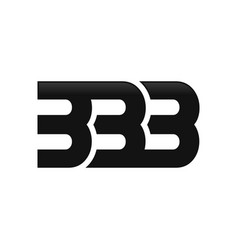 Triple b or 3 initials lettermark symbol logo vector