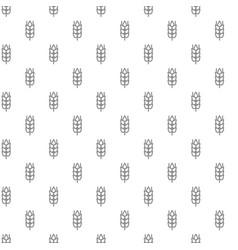 unique digital wheat ears seamless pattern with vector image