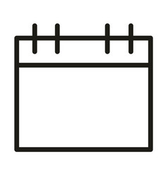 User interface calendar reminder linear style vector