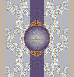 vintage old baroque card background rich imperial vector image